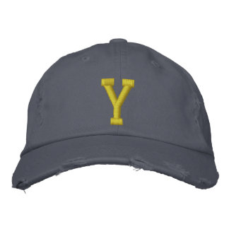 Spell it Out Initial Letter Y Ball Cap Embroidered Baseball Cap