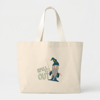 Spell It Out Large Tote Bag