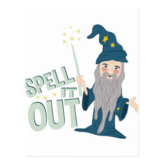 Spell It Out Postcard