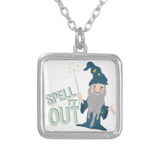 Spell It Out Silver Plated Necklace