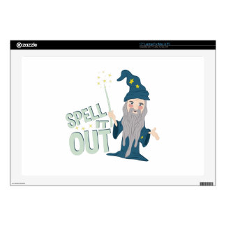Spell It Out Skins For Laptops