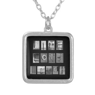 Spell out with Pictures Silver Plated Necklace