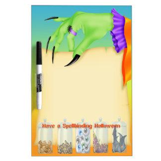 Spellbinding Halloween Witch Hand Dry Erase Board