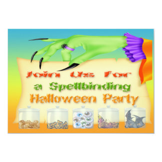 Spellbinding Halloween - Witch Hand Invitations