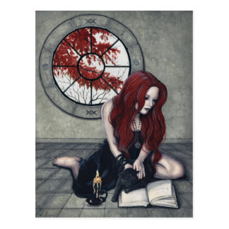 Spellbook Witch Postcard
