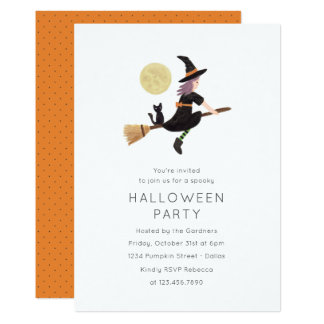 Spellbound Halloween Party Invitation