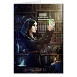 Spellcaster Witch Pagan Greeting Card