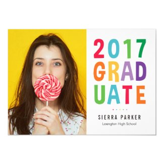 Spelled Out Fun Graduation Announcement Invitation
