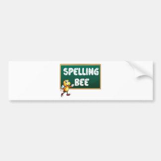 Spelling bee car bumper sticker
