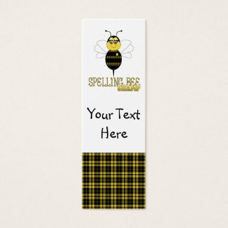 Spelling Bee Champ Bookmark Mini Business Card