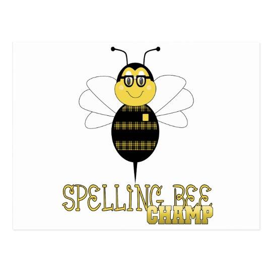 Spelling Bee Champ Postcard