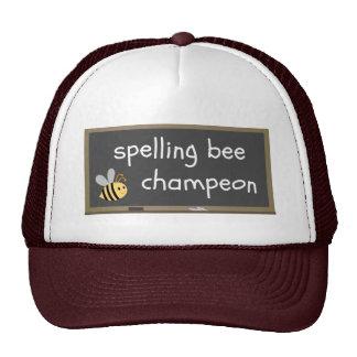 Spelling Bee Champeon Misspelling Humor Trucker Hat