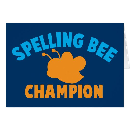 Spelling Bee Champion Card