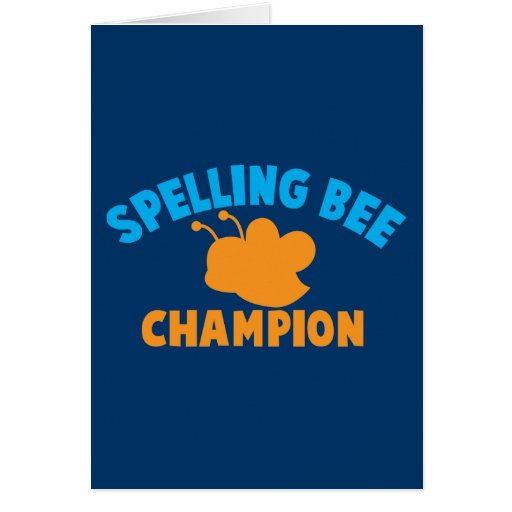 Spelling Bee Champion Cards