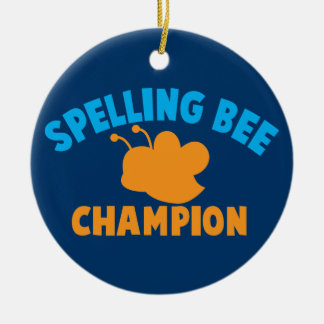 Spelling Bee Champion Double-Sided Ceramic Round Christmas Ornament