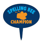 Spelling Bee Champion Oval Cake Toppers