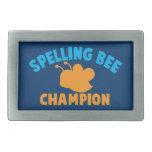 Spelling Bee Champion Rectangular Belt Buckles