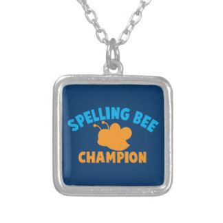 Spelling Bee Champion Silver Plated Necklace