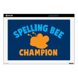 "Spelling Bee Champion 17"" Laptop Decals"