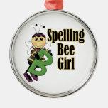 spelling bee girl bumble bee cartoon ornament