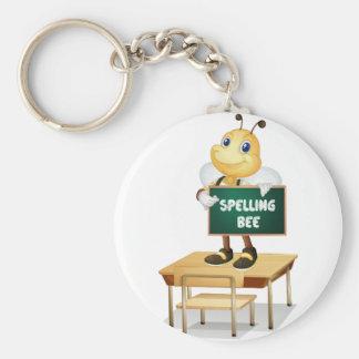 Spelling bee keychain