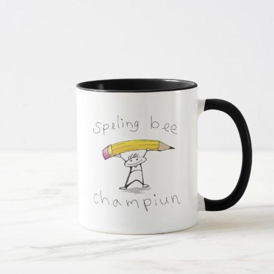 Spelling bee mug