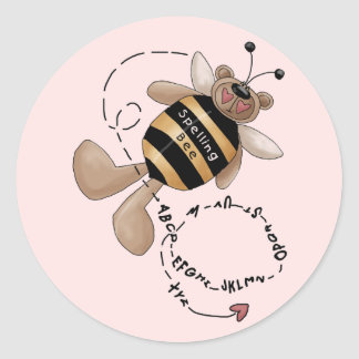 Spelling Bee Tshirts and Gifts Classic Round Sticker