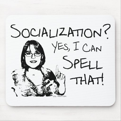 Spelling Socialization Mouse Pad
