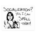 Spelling Socialization Postcard