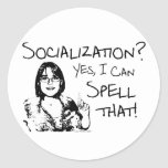 Spelling Socialization Sticker