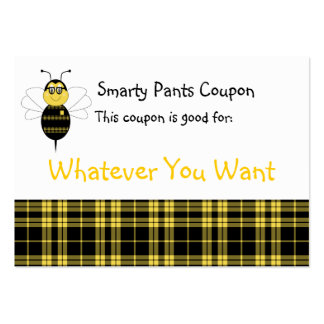 SpellingBee Bumble Bee Smarty Pants Coupon Business Cards