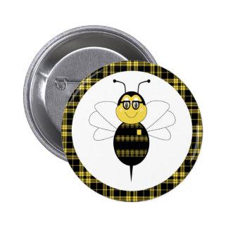 SpellingBee manosea el botón de la abeja Pin Redondo De 2 Pulgadas