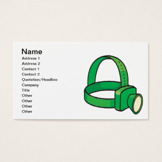 Spelunkers Head Light Business Card