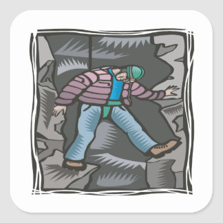 Spelunking 12 square stickers