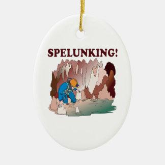 Spelunking 2 ceramic ornament