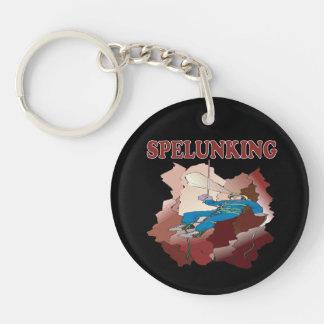 Spelunking 7 Single-Sided round acrylic keychain