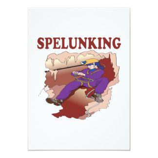 """Spelunking 9 invitación 5"""" x 7"""""""