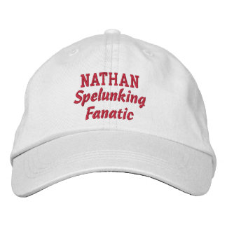 Spelunking Fanatic Custom Name Embroidered Baseball Hat