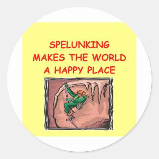 spelunking stickers
