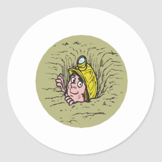 Spelunking Round Stickers