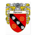 Spencer Coat of Arms/Family Crest (Mantled) Postcard