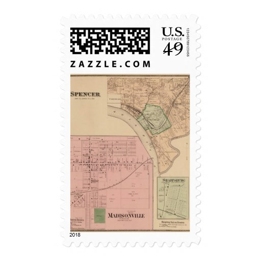 Spencer Madisonville, Ohio Postage