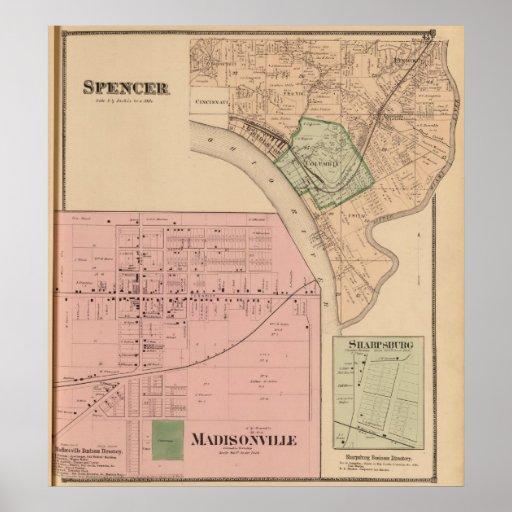 Spencer Madisonville, Ohio Poster