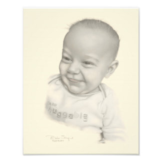 Spencer Pencil Drawing on satin photo paper