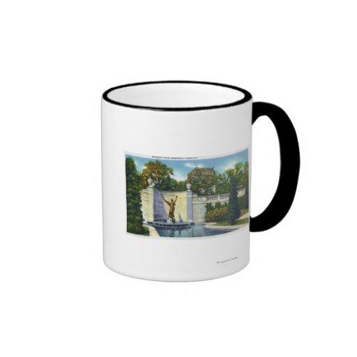Spencer Trask Memorial Fountain View Coffee Mugs