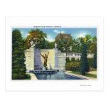 Spencer Trask Memorial Fountain View Postcard