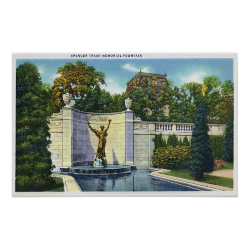 Spencer Trask Memorial Fountain View Poster