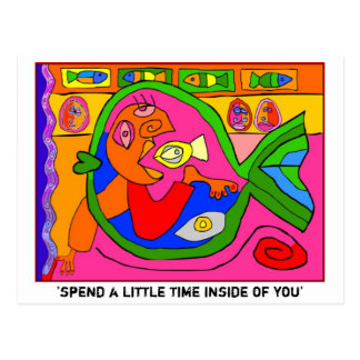 'spend a little time inside of you' postcard