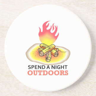 SPEND A NIGHT OUTDOORS COASTERS
