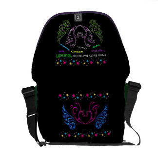 Spend every day being yourself! messenger bags